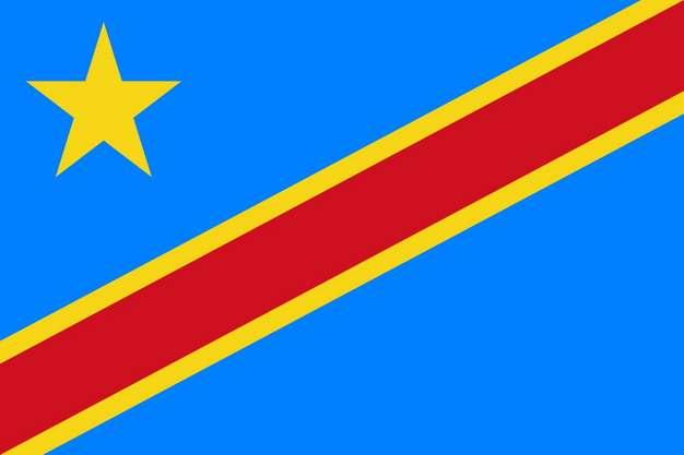标准版刚果(金)刚果民主共和国国旗图片素材