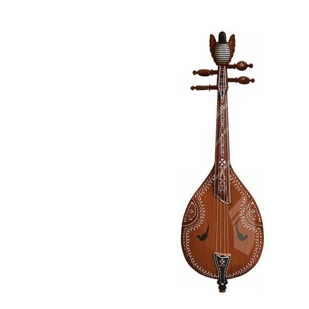 冬不拉哈萨克传统乐器111096png图片素材