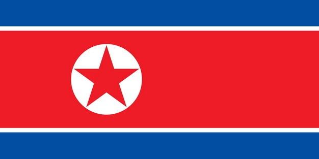 标准版朝鲜国旗图片素材 科学地理-第1张