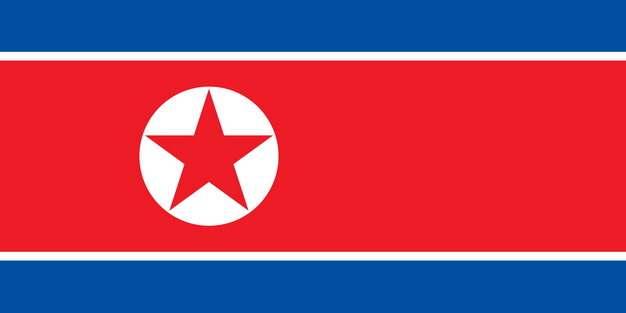 标准版朝鲜国旗图片素材