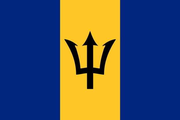 标准版巴巴多斯国旗图片素材