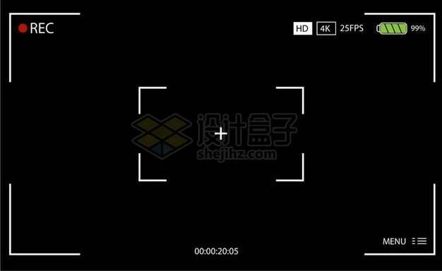 黑色照相机录制视频界面524435png矢量图片素材