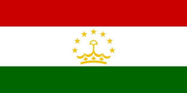标准版塔吉克斯坦国旗图片素材