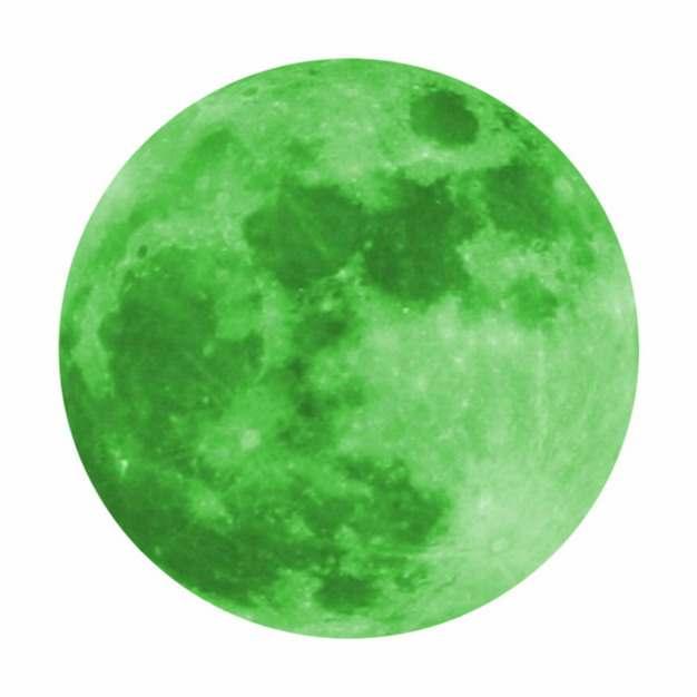 绿色月亮绿色星球632038 png图片素材