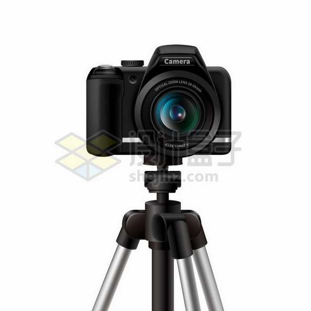 安装在三脚架上的佳能数码单反相机956248png矢量图片素材