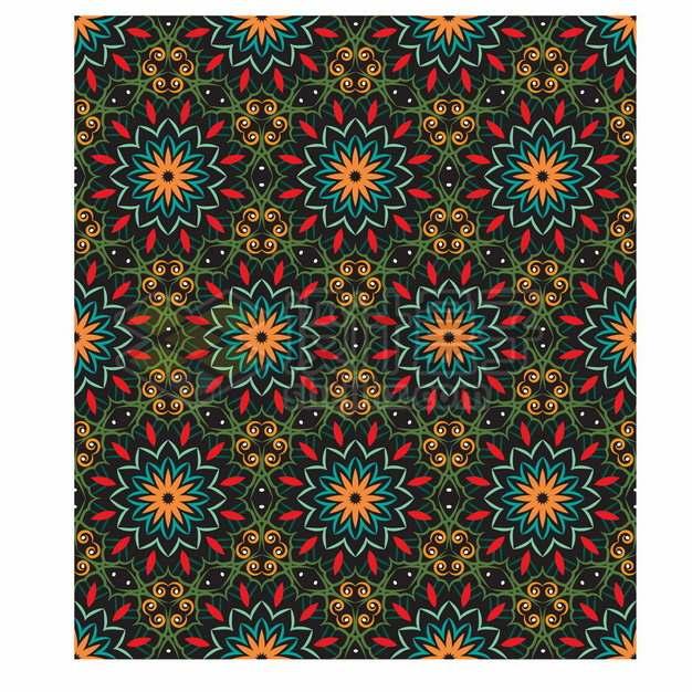 复古彩色花纹贴图851970png矢量图片素材