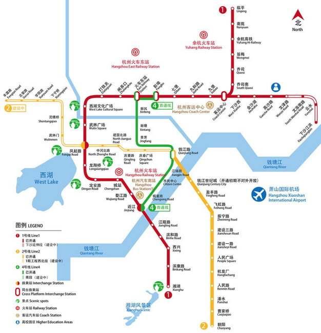 杭州地铁线路图图片素材