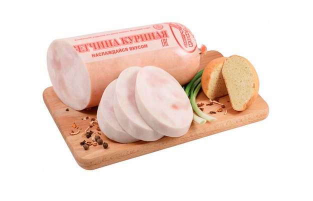砧板上的火腿肠和干面包340964png图片素材