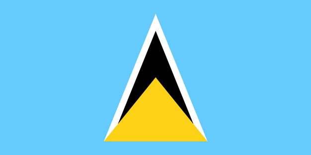 标准版圣卢西亚国旗图片素材