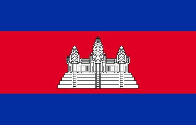 标准版柬埔寨国旗图片素材