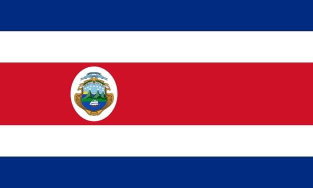 标准版哥斯达黎加国旗图片素材