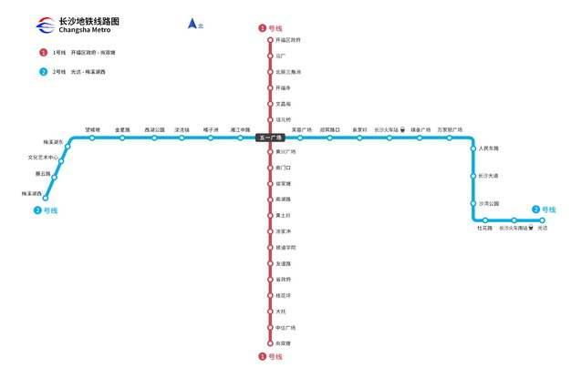 长沙地铁线路图图片素材