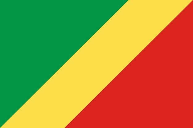 标准版刚果(布)刚果共和国国旗图片素材