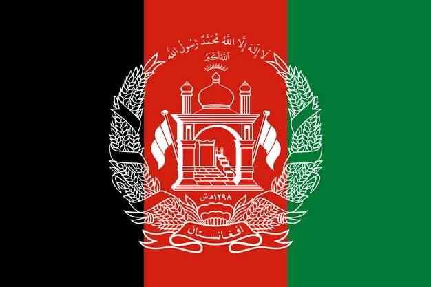 标准版阿富汗国旗图片素材