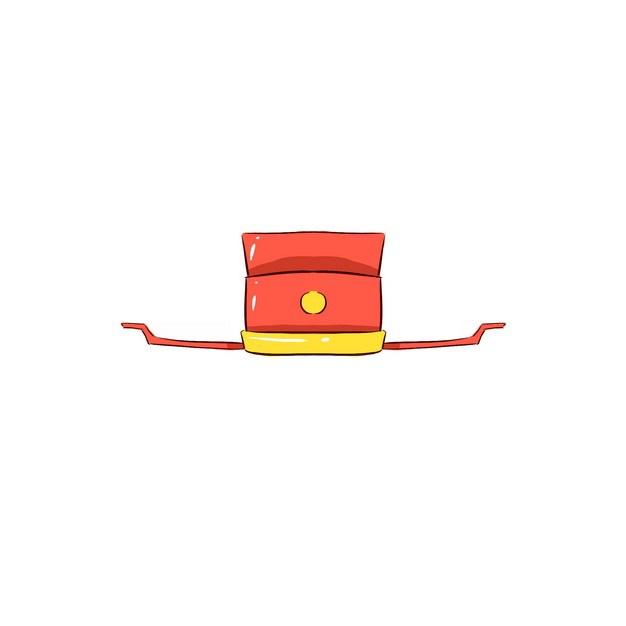 卡通红色古代官帽明朝官员戴的帽子戏曲帽子png图片素材 生活素材-第1张