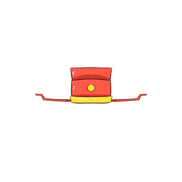 卡通红色古代官帽明朝官员戴的帽子戏曲帽子png图片素材