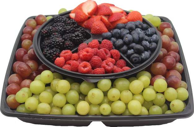 提子葡萄草莓蓝莓树莓桑葚等水果拼盘416555 png图片素材