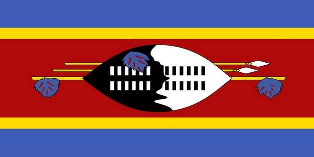 标准版斯威士兰国旗图片素材