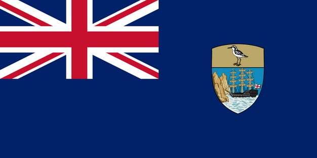 标准版圣赫勒拿国旗图片素材