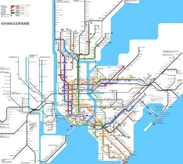 纽约地铁线路图图片素材