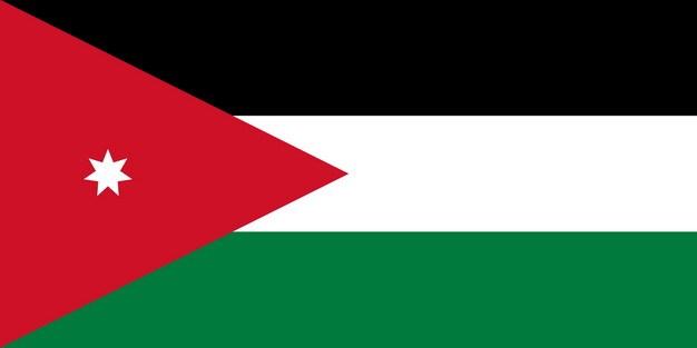 标准版约旦国旗图片素材 科学地理-第1张