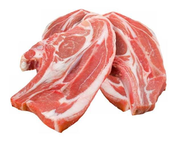 肥瘦相间的牛排猪大排骨猪肉631566png图片素材