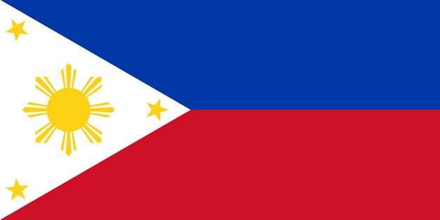 标准版菲律宾国旗图片素材