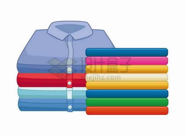折叠整齐的彩色衬衫衣物178168png矢量图片素材