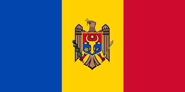 标准版摩尔多瓦国旗图片素材