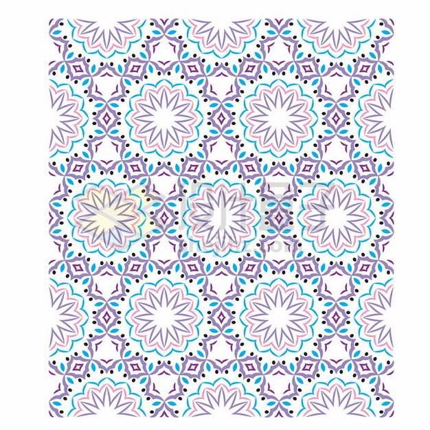 复古彩色花纹贴图617527png矢量图片素材