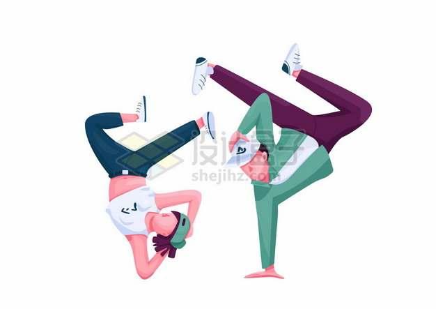 跳街舞的卡通年轻人634429png矢量图片素材