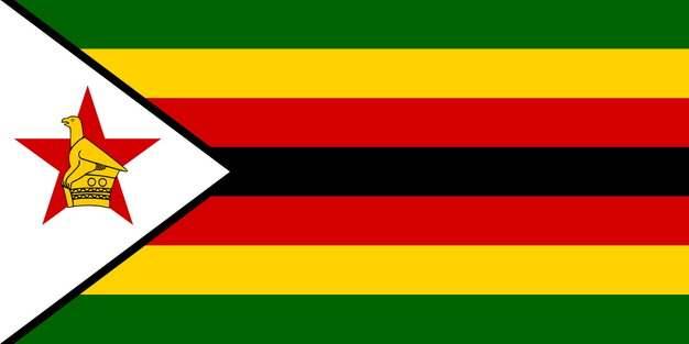 标准版津巴布韦国旗图片素材