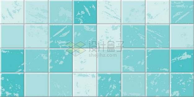 斑驳的蓝色方块方格瓷砖贴图510975png矢量图片素材