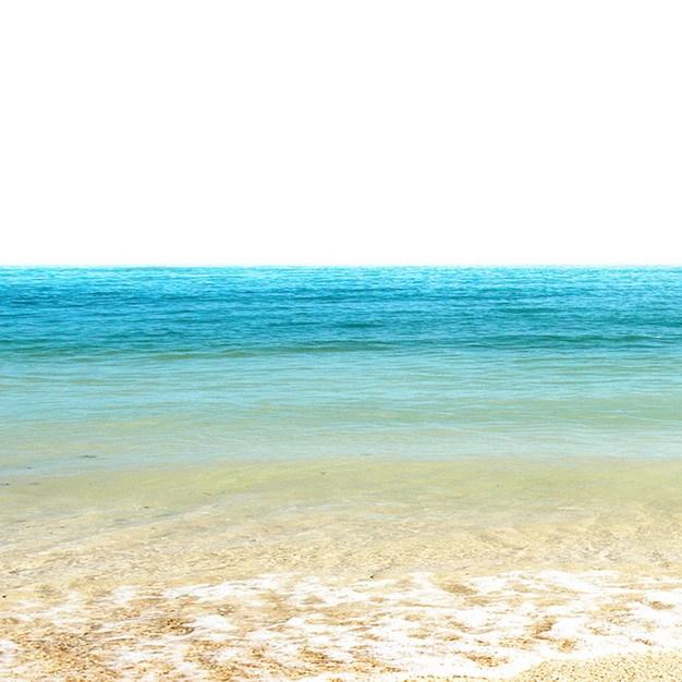 蔚蓝色大海和沙滩海滩510752png图片素材 生物自然-第1张