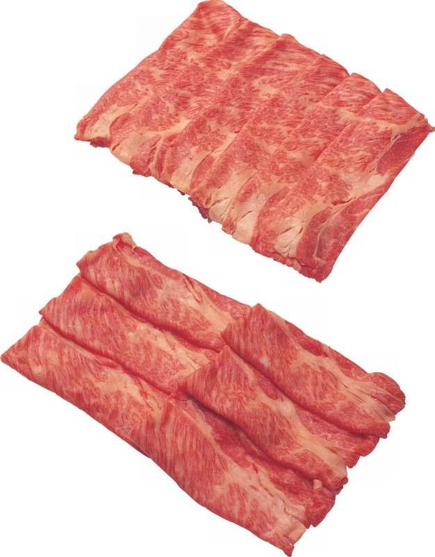 切薄片的牛肉卷猪肉卷412547png图片素材