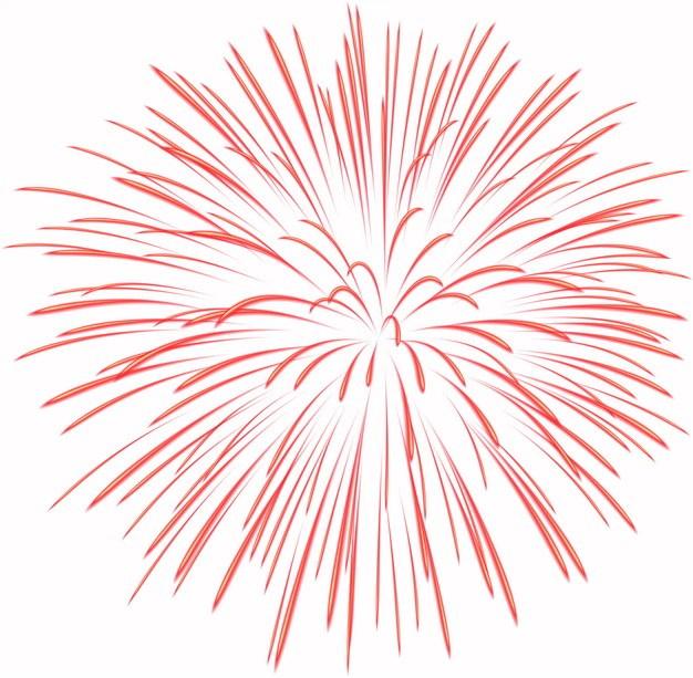 绽放的红色烟花礼花效果图案596026png图片素材 效果元素-第1张