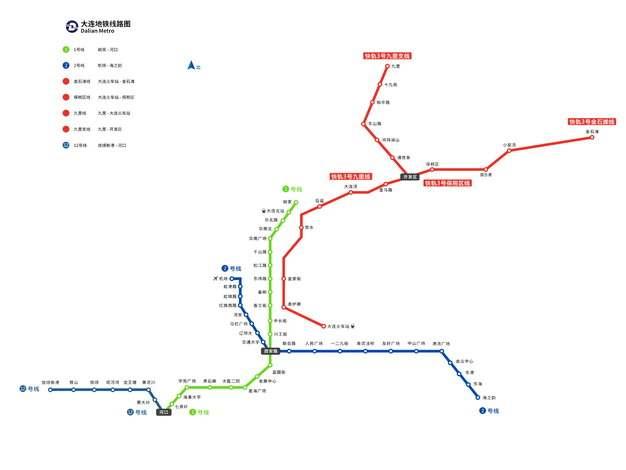 大连地铁线路图图片素材