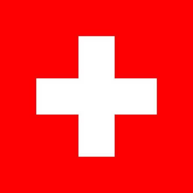 标准版瑞士国旗图片素材