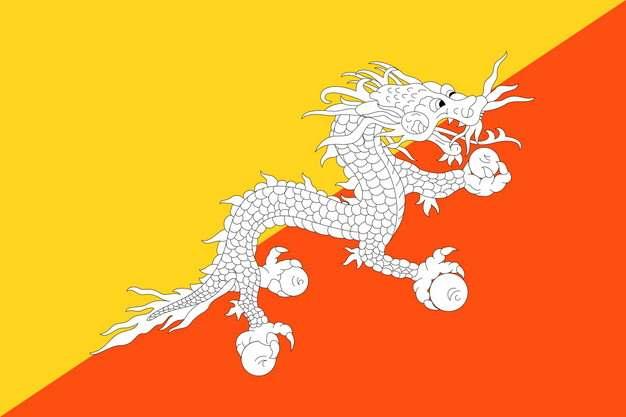 标准版不丹国旗图片素材