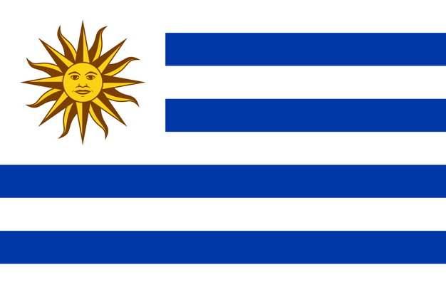 标准版乌拉圭国旗图片素材