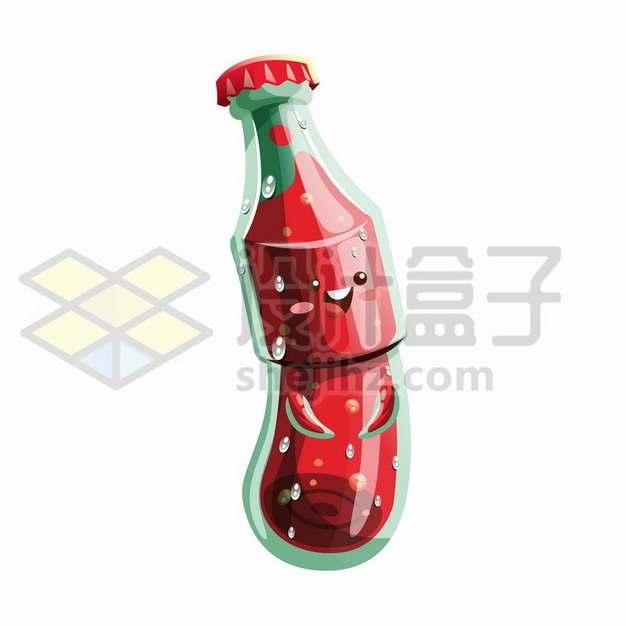 创意红色卡通饮料瓶189862png矢量图片素材