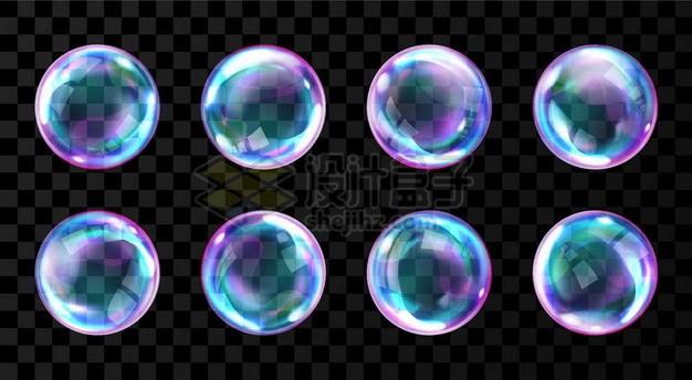 五颜六色的肥皂泡泡656024png矢量图片素材 效果元素-第1张