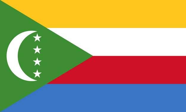 标准版科摩罗国旗图片素材