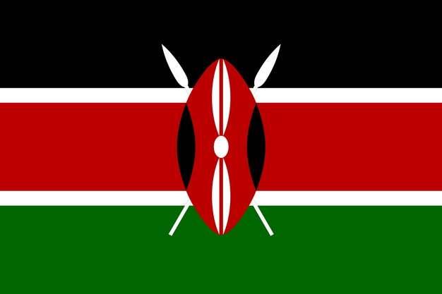 标准版肯尼亚国旗图片素材