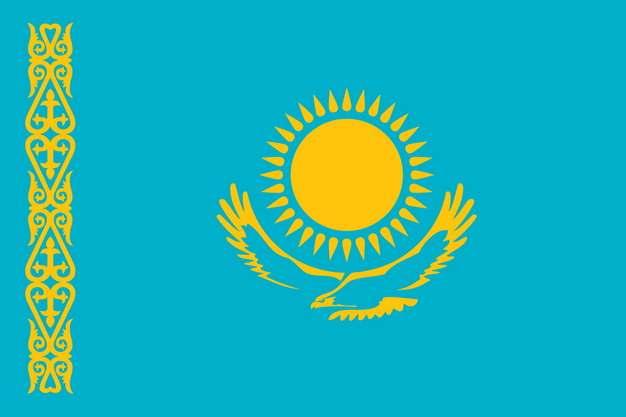 标准版哈萨克斯坦国旗图片素材