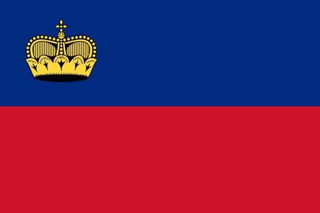 标准版列支敦士登国旗图片素材