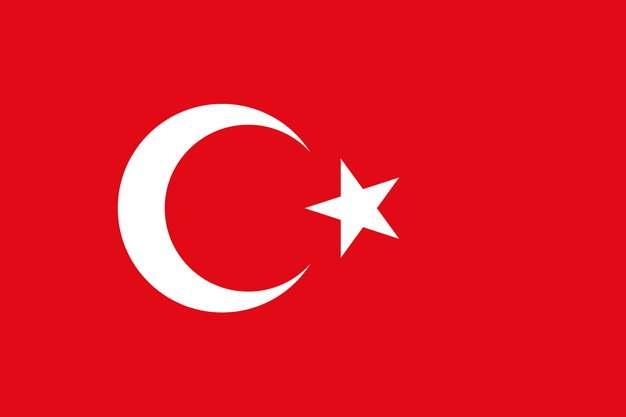 标准版土耳其国旗图片素材
