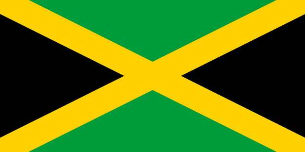 标准版牙买加国旗图片素材