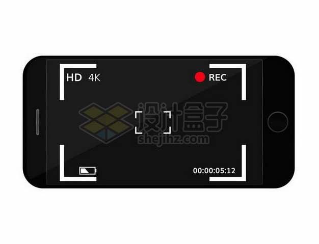 黑色手机相机拍摄界面382177png矢量图片素材