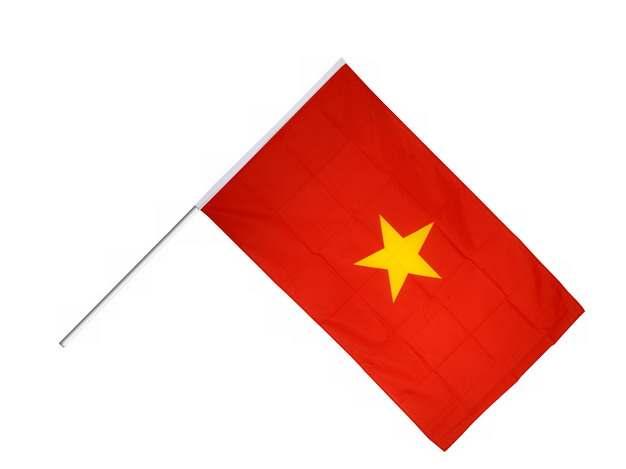 带旗杆的越南国旗图片素材